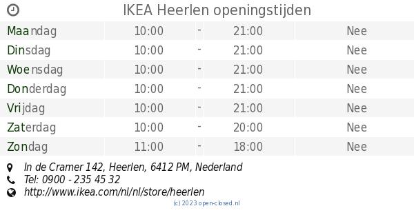 Ikea Heerlen Openingstijden In De Cramer 142
