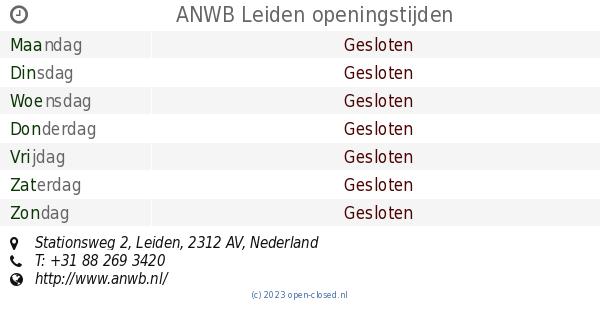 Anwb Leiden Openingstijden Stationsweg 2