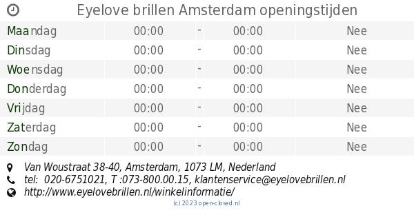 4a6ba3b0ecf662 Eyelove brillen Amsterdam openingstijden