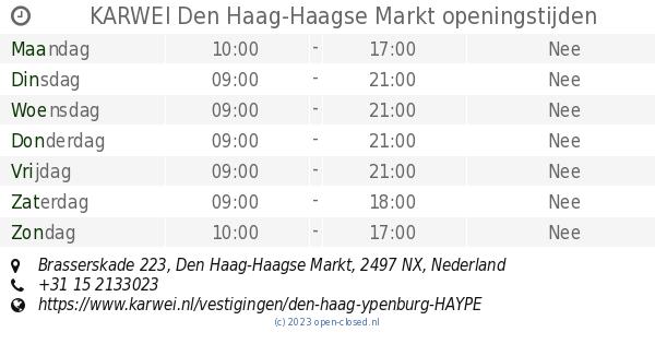 Karwei Den Haag Haagse Markt Openingstijden Brasserskade 223